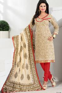 Chanderi Churidar Suits