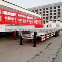 2 Axle Goosneck Disconnectable Low Bed Semi Trailer