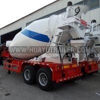 concrete mixer semi trailer with double axles