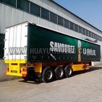 Three Axle Cargo Wall Side Semi Trailer (60Ton)