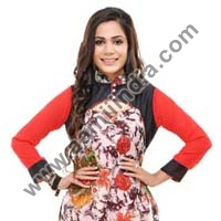 Red Georgette Long Kurta