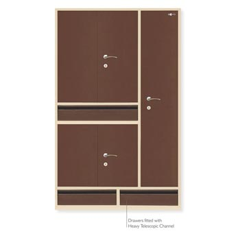 5 Door Premium Steel Almirah