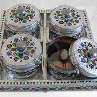 Meenakari Work Mukhwas Dry Fruit Box