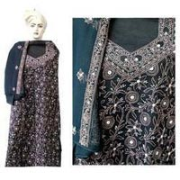 Hand Embroidered Banarasi Suit
