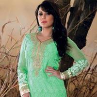 Fancy Party Wear Zari Resham Embroidered Dress