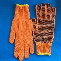 Pvc Dotted Cotton Knitted Glove