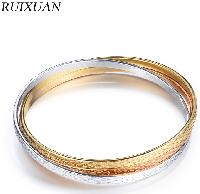 Three Rings For Female Fashion Jewelry Stainless Steel Bangle