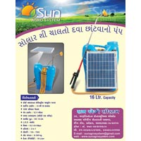 Solar Oprated Knapsck Sprayer