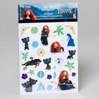 Stickers Disney Brave 2 Sides 56 Ct