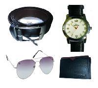 Branded Combo Wrist Watch +sun glass+ belt+ tshirt