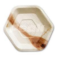 Hexagon Areca Plates