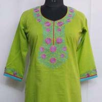 Womens Wear Cotton Traditional Kurti Embroidery Work