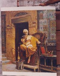 Reproduction of orientalist portrait painting