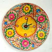 Goat Leather Clock