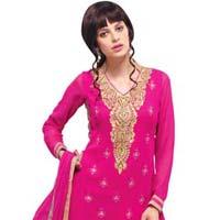 Pink Georgette Salwar Suits