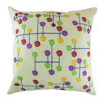 Embroidered Modern Art Cushion Cover