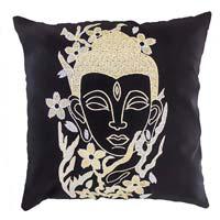 Zari Embroidered Buddha Cushion Cover