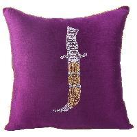Zari Embroidered Classy Sword Cushion Cover