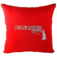 Zari Embroidered Stylish Gun Cushion Cover
