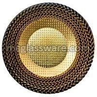 Harvest Black Glass Charger Plates