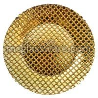 Hyperion Gold Glass Charger Plates