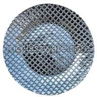 Hyperion Silver Glass Charger Plates