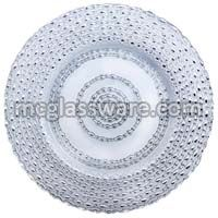 Silver Harvest Glass Charger Plates