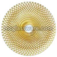 Spiro Gold Clear Glass Charger Plates