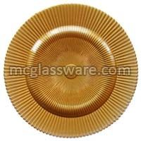 Sunray Gold Glass Charger Plates