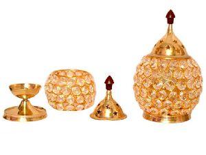 Brass Akhand Diya Round