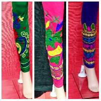 Ladies Embroidered Leggings