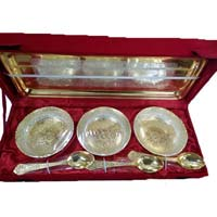 Silver & Gold Plated Bowl Tray Spoons