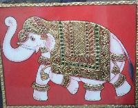 Elephant Tanjore Paintings