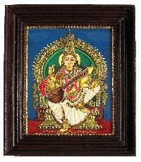 Saraswati Ji Tanjore Paintings