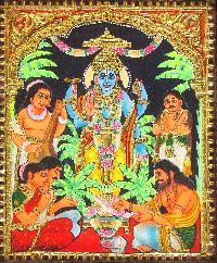 Satyanarayana Swamy Tanjore Paintings