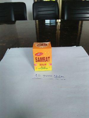 10 Gm Samrat Ayurvedic Pain Relief Balm With Narayan Oil