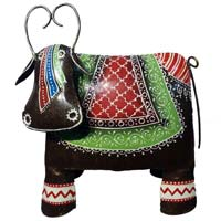 Indian Handicrafts Company Meenakari  Metal Cow