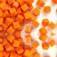 Frozen Carrot Cubes
