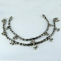Sterling Silver Anklets (Oxidized Plain 925)