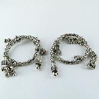 Sterling Silver Anklets (oxidized Designer 925)