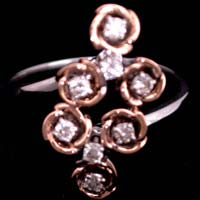 Ladies Rose Gold Diamond Rings