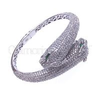 Rhodium Plated Sterling Silver Turkish Bracelet