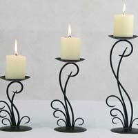 Wrought Iron Floor Candle Holder