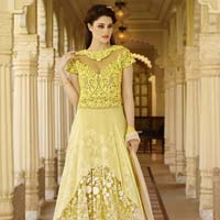 Fs2220 Georgette Embroidered Anarkali Type Suit
