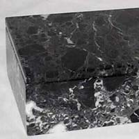 Rectangular Black Marble Box