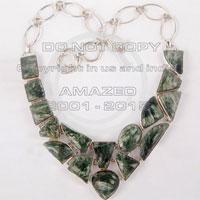 Sterling Silver Gemstone Cluster Necklaces