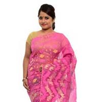 Pink Dhakai Jamdani Sarees