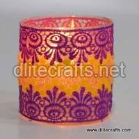 Decorative Glass Candle Votive