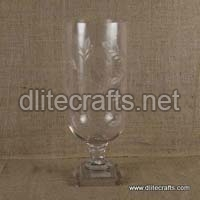 Glass Clear Cut Candle Holder
