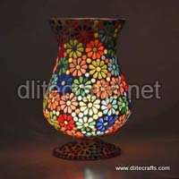 Glass Mosaic Candle Votive